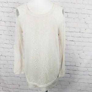 Soft Surroundings| Light Layered Cream Sweater
